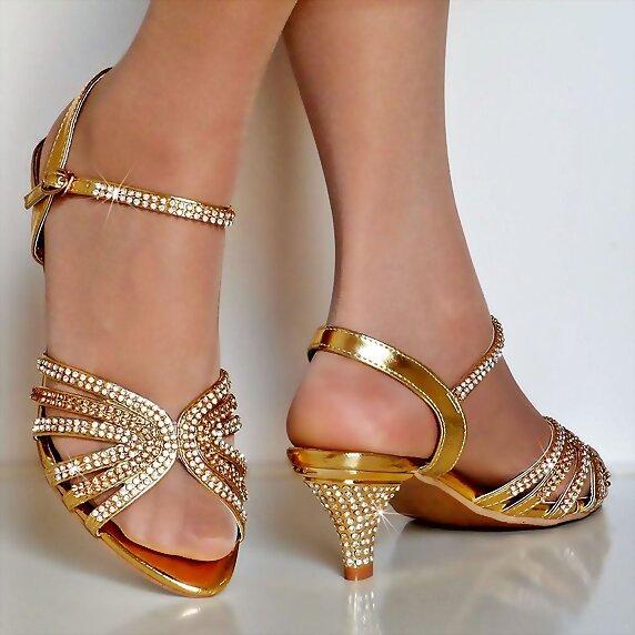 Clásicas Tacón Medio Santxe Sandal Sandalias Collection Dorado s En XNn80wOPk