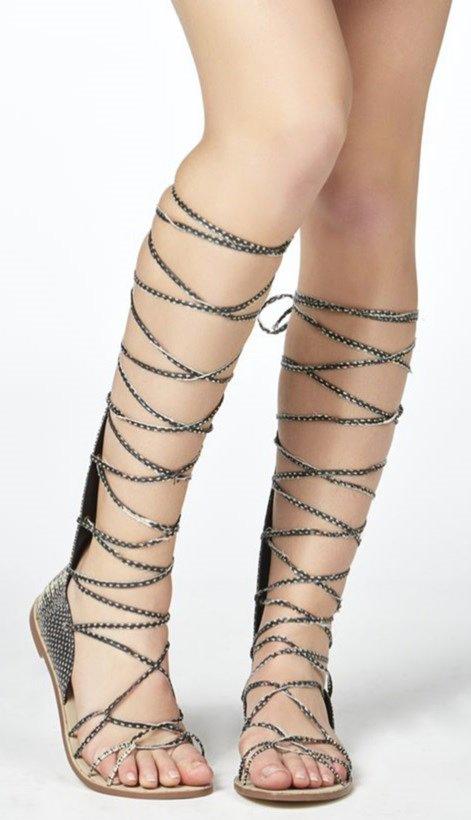 Santxe Sandalias Enredadera Serpiente Sandal Collection Piel Tiras s tsBohxQCrd