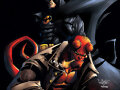 batman y hellboy