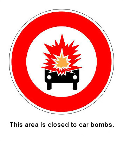 No car bombs allowed