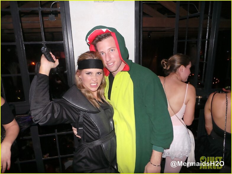 Claire Holt -Matthew Morrison Halloween Party 2013