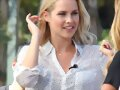 Claire Holt - 'Extra' at The Grove, Oct 7, 2013