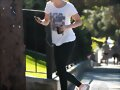 Claire Holt - Goes Jogging in Hollywood Hills 2014