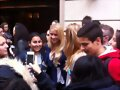 Claire Holt con fans en Paris | May 2014