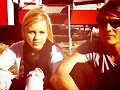 Claire Holt en el set de The Vampire Diaries T3