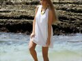 Indiana Evans - Photoshoot Candids at Shark Beach