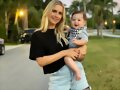 Claire Holt con su hijo James Holt Joblon | 2019