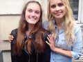 Claire Holt con fans en Paris, Francia, May 2016