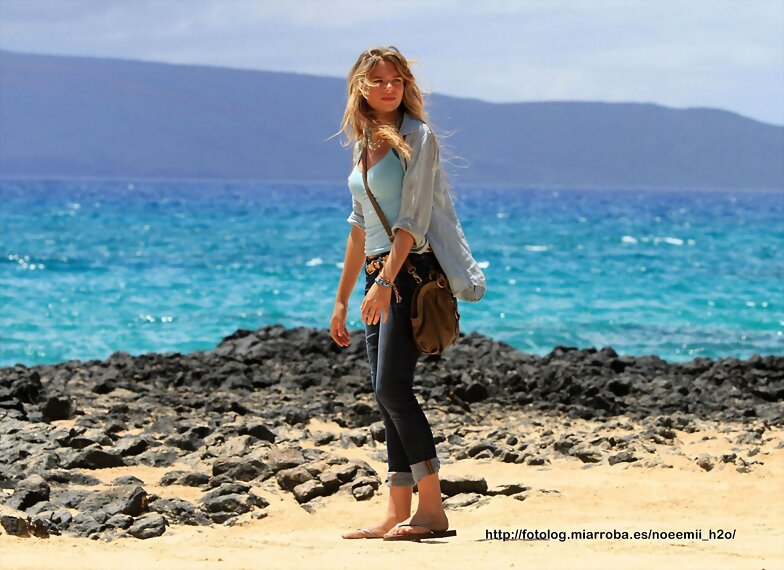 TBL Mar 28 - On the deserted beach in Maui, Hawaii