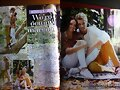 Luke Mitchell y Rebecca Breeds en una revista