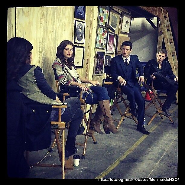 Phoebe Tonkin en el set de The Originals (Season1)